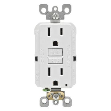 Leviton 15 Amp White SmartlockPro Self-Test GFCI 3 Count