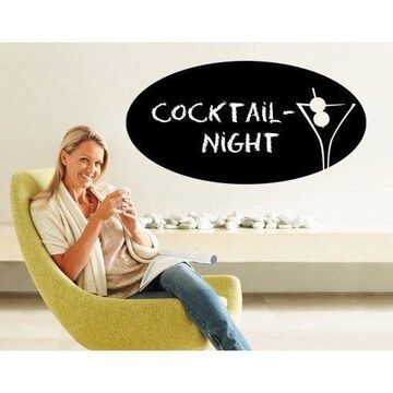 Cocktail Time Chalkboard and Eraseboard Wall Decal Vinyl Art Home Decor