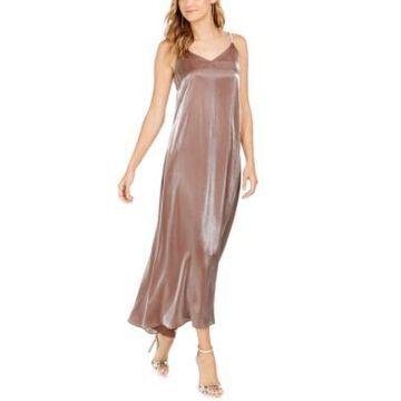 Msk Embellished Metallic Gown