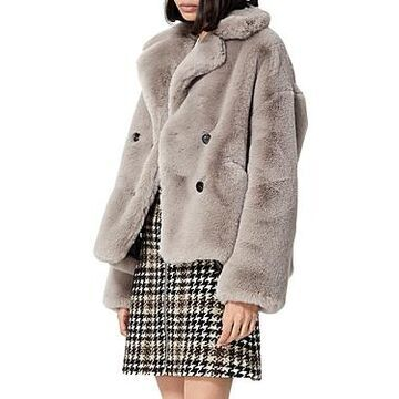 The Kooples Cropped Faux Fur Coat