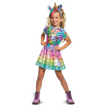 Girls Poopsie Unicorn Rainbow Brightstar Deluxe Costume