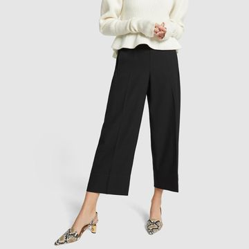 Lemaire Cropped Elastic Pants in Black, Size FR 36