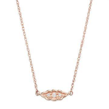 LC Lauren Conrad 10k Rose Gold Diamond Accent Leaf Necklace