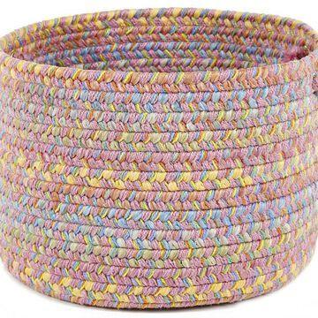 PT08B018X012 18 x 12 in. Playtime Pink & Multicolor Basket