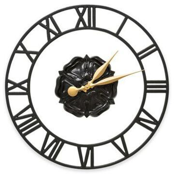 Whitehall Products Rosette Wall Clock in Black