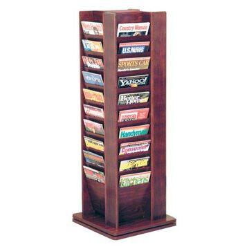 Wooden Mallet Cascade 40 Magazine Spinning Rack in Mahogany