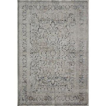 Rugs America Cambridge Collection Tan Navy CB500A Transitional Abstract Area Rug 8' x 10'