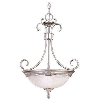 Savoy House Spirit 2-Light Bowl Pendant in Pewter