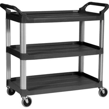 Rubbermaid Commercial 3-Shelf Mobile Utility Cart 409100 BLA