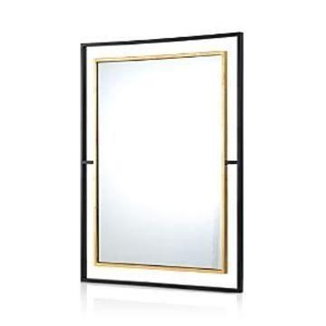 Ren-Wil Gray Mirror In Black & Gold