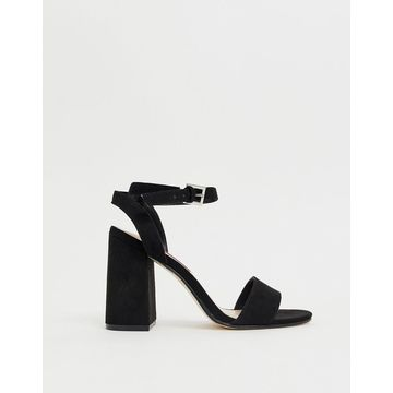 London Rebel barely there block heel sandals