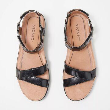 Vionic Leather Ankle Strap Platform Wedges - Kayan