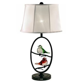 Dale Tiffany Finch Led Oval Table Lamp