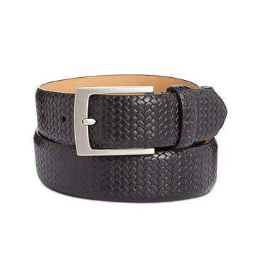 Men's Braided Leather Belt, Created for Macy's
