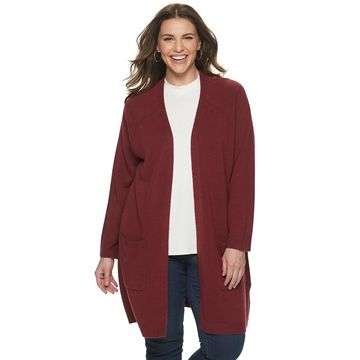 Plus Size Napa Valley Front Pocket Cardigan
