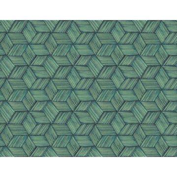 Kenneth James Intertwined Blue Geometric Wallpaper