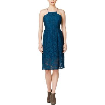 Kensie Womens Lace Racerback Fit & Flare Dress