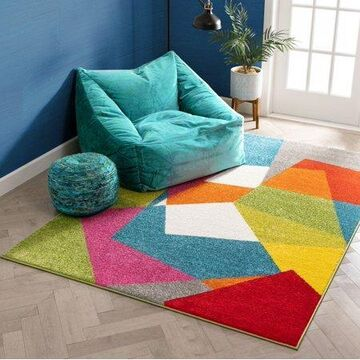 Well Woven Viva Excitement Multi-color Modern Geometric 5'3