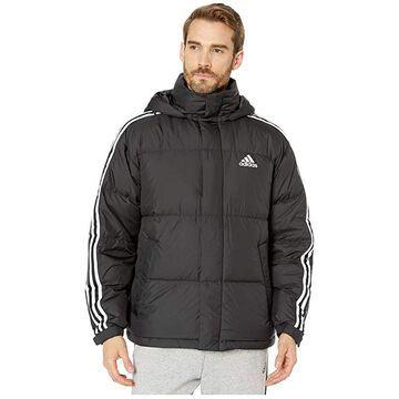 adidas Outdoor 3-Stripe Puff Down (Black) Men's Coat
