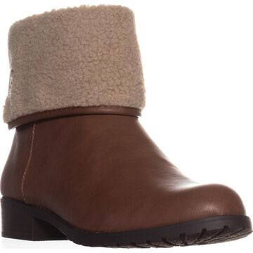 Style & Co. Womens Beana Ankle Cold Weather Booties Brown 7.5 Medium (B,M)