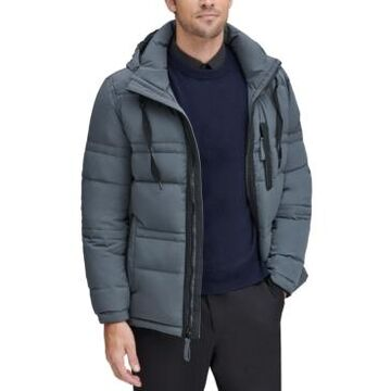 Marc New York Men's Huxley Crinkle Down Jacket with Removable Hood
