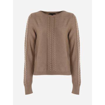 Fay Crewneck Sweater In Virgin Wool