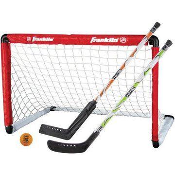 Franklin Sports Insta-Set Hockey Goal, 2 Sticks, and Ball Set