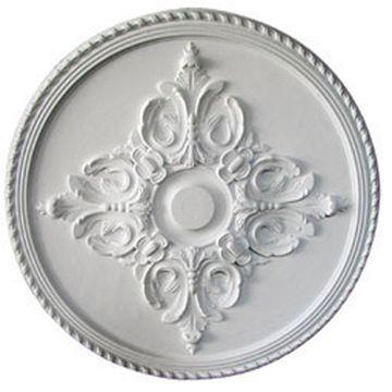 Ekena Millwork Milton 40.625-in x 40.625-in Primed Polyurethane Ceiling Medallion