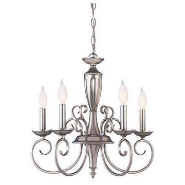 Savoy House Spirit 5-Light Chandelier in Pewter