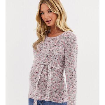 Mamalicious salt and pepper sweater-Multi
