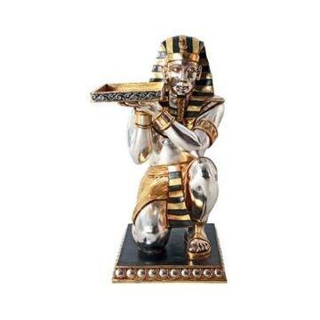 Design Toscano Egyptian Pharaoh's Kneeling Servant Egyptian Side Table Statue