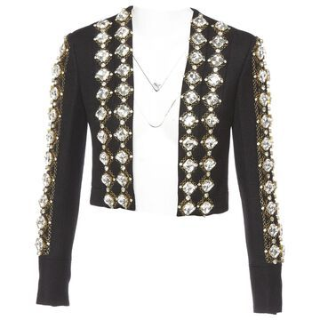 Balmain Black Viscose Jackets