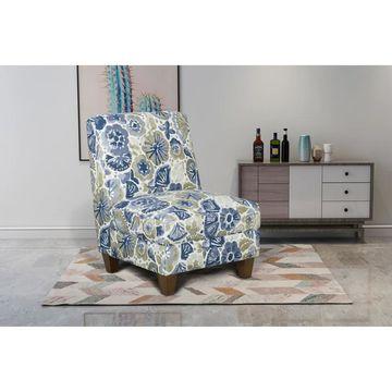 HomePop Slipper Chair (Blue)