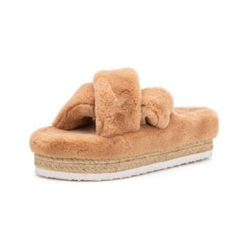 Olivia Miller Women's Morciano Furry Wedge Sandals Women's Shoes