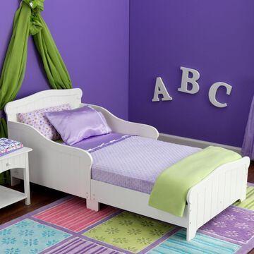 KidKraft Nantucket White Toddler Bed Rubber | 86621