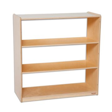 Wood Designs Bookshelf with Acrylic Back - 36H in.