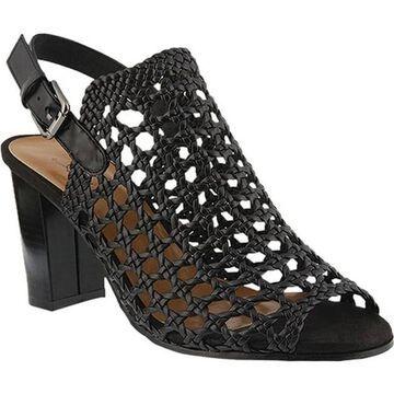 Azura Women's Stacy Caged Sandal Black Synthetic