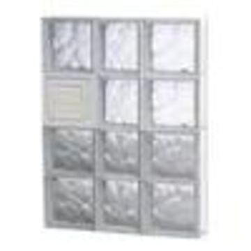 REDI2SET Wavy Glass Pattern Frameless Replacement Glass Clear Block Window (Rough Opening: 22-in x 32-in; Actual: 21.25-in x 31-in)