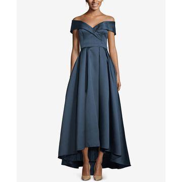 Xscape Womens Shimmer Hi-Low Formal Dress