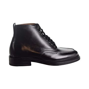 Bostonian Berkshire Moc Mens Black Leather Casual Dress Lace Up Boots Shoes