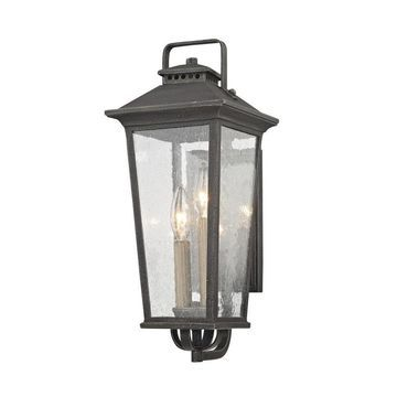 allen + roth Prospect Hill 7-in W 2-Light Aged Pewter Transitional Wall Sconce