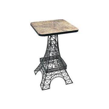 Design Toscano Tour Eiffel Sculptural Metal Side Table