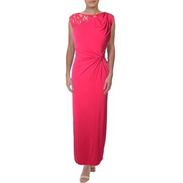 Ellen Tracy Womens Lace Back Sleeveless Semi-Formal Dress