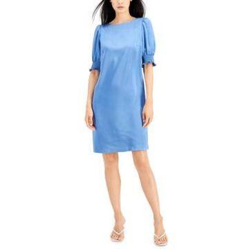 Anne Klein Puff-Sleeve Shift Dress