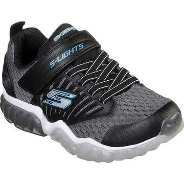 Skechers Boys' S Lights Rapid Flash Sneaker Charcoal/Black