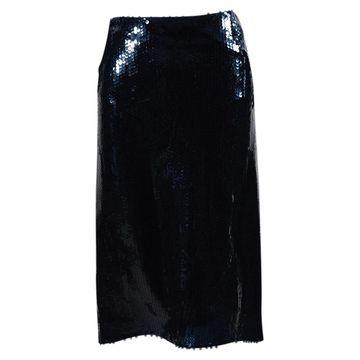 Nina Ricci Blue Glitter Skirts