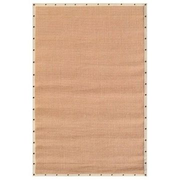 The Rug Market Beige Border with Nail Head Tan Sisal Area Rug