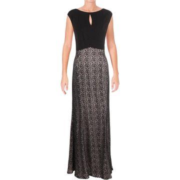 Alex Evenings Womens Evening Dress Metallic Lace