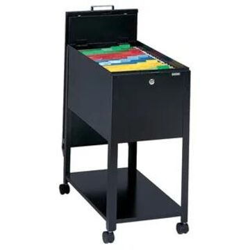 Mayline Mobilizers Heavy-gauge Steel Letter-sized Wheeled File Cabinet (Black)