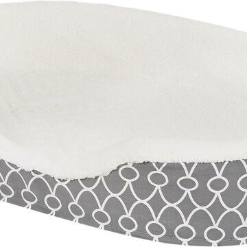 MidWest QuietTime Defender Teflon Geometric Orthopedic Nesting Pet Bed, Gray